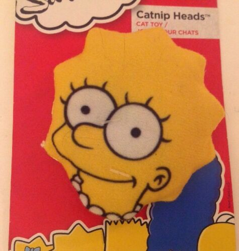 SIMPSONS Cat Toy Catnip Heads Maggie Hartz Mountain 2013 NWT image 2