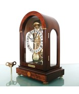 HERMLE Mantel Clock TRANSLUCENT! SKELETON Bell CHIME Germany Modern ARCH Shaped! - $595.00