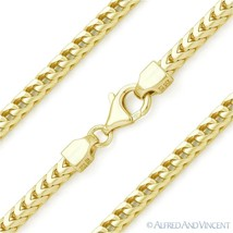 Italy .925 Sterling Silver GP 3mm Arrow Link Franco Chain Men's Italian Necklace - $147.60 - $260.56