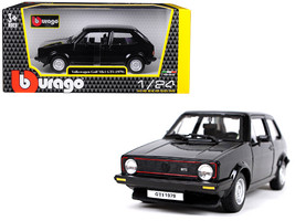 1979 Volkswagen Golf Mk1 GTI Black 1/24 Diecast Model Car by Bburago - $33.64