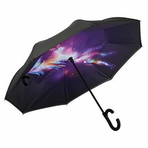 AWEOODS Inverted Umbrella Windproof Reverse Folding Double Layer Travel ... - $21.36