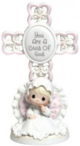 Precious Moments, You Are A Child Of God, Bisque Porcelain Cross, Girl, ... - $58.20