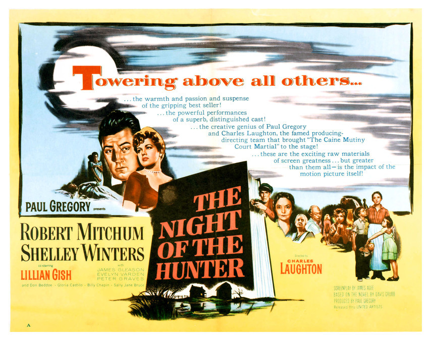 Robert Mitchum and Shelley Winters in The Night of The Hunter Classic Art 16x20  - $69.99