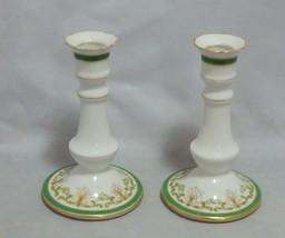 Limoges France Bernardaud Pair of Candlesticks - $35.64
