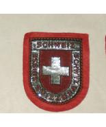 Schweiz Switzerland Suisse Embroidered Sewn World Travel Patch - $9.08