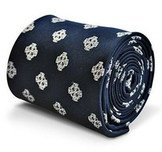 Frederick Thomas Designer Mens Tie - Dark Navy Blue - Embroidered Celtic... - $15.81