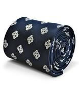 Frederick Thomas Designer Mens Tie - Dark Navy Blue - Embroidered Celtic... - $15.81
