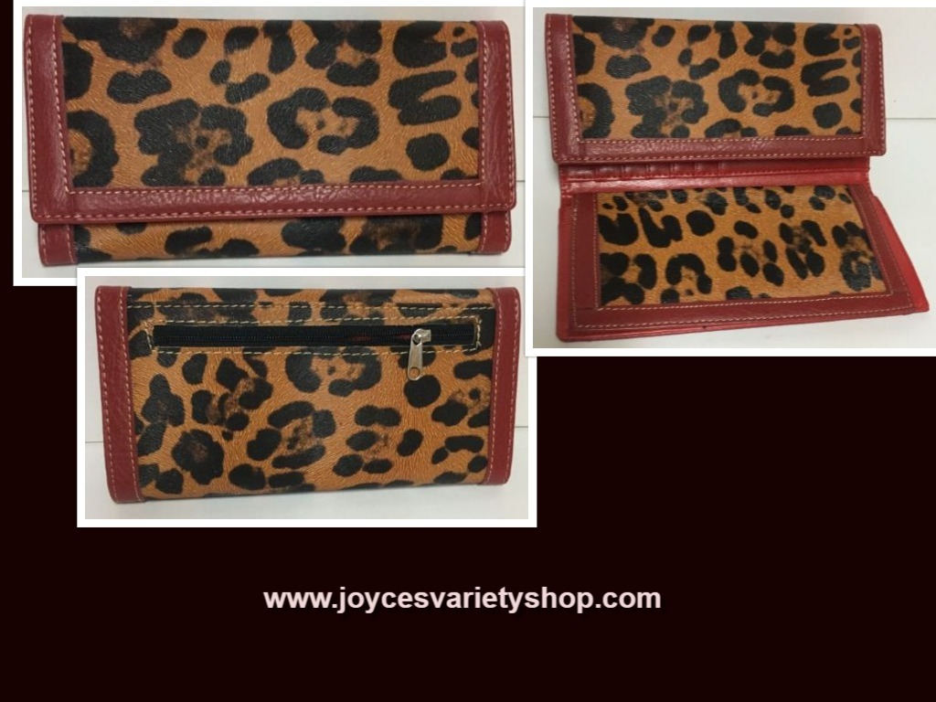 Country Road Faux Leather Animal Print Wallets Cardholder Organizer NEW
