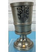 Peltro Metalars Italy Pewter Cup Chalice Goblet W/ Family Crest Vintage ... - $33.33