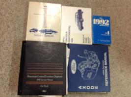 1992 Ford Lincoln Continental Service Shop Repair Manual Set W Pced & Transaxle - $79.15