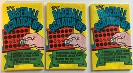 1981 Topps Baseball Scratch-Off Wax Packs Lot Of 3 - $8.99