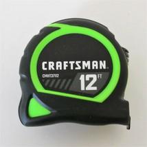Craftsman by Stanley Hi-Vis Locking Tape Measure - 12 ft - Rubber Grip - New - $4.36