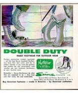 1960 Print Ad Northerner Hunting Fishing Boots Servus Rubber Co Rock Isl... - $9.25