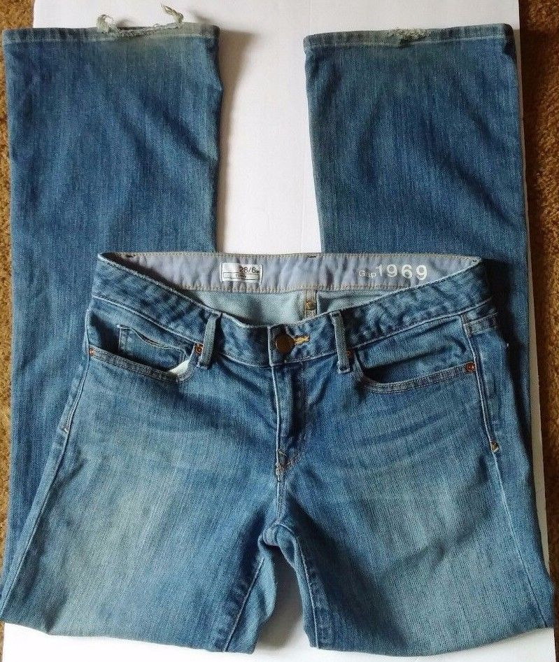 0c2f6dee47e Gap 1969 Curvy Blue Denim Boot Flare Cut and 50 similar items