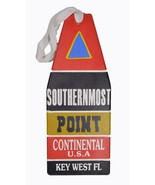 WOODEN SIGN KEY WEST SOUTHERN MOST POINT FLORIDA U.S.A. BUOY SQUARE HAND... - $24.74