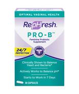 (New) RepHresh Pro-B Probiotic Supplement for Women, 30 Oral Caps Exp 2022 - $20.78