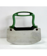 Vintage Acme Stainless Steel Pastry Dough Cutter with Green Cast Iron Ha... - $9.50