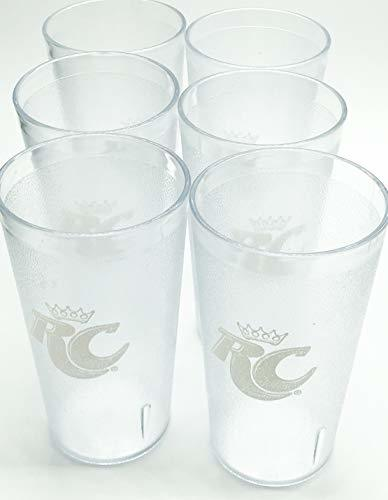 "Primary image for RC Cola-""RC"" Logo Clear Plastic Tumblers Set of 6-16oz"