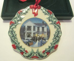 Vintage Longaberger Collector's Club Christmas Ornament 1997 CAROLING IN DRESDEN - $17.99