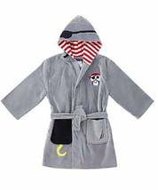 """ Nautica Boys' Hooded Terry Velour Swim Cover-up Beach Robe""  Grey Pirate - $18.99"