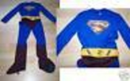 Boys Size Medium 8-10 Superman Super Man Halloween Costume Jumpsuit EUC - €21,48 EUR
