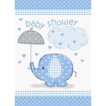 Umbrella Elephant Blue Boy Baby Shower Party Invitations 8 ct - $2.99