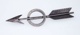 David Navarro Sterling Silver Arrow Circle Pin Brooch Nice! - $183.15