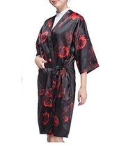 Salon Client Gown Upscale Robes Beauty Salon Smock for Clients, Red Rose image 2