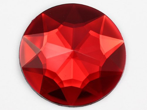 32mm Ruby H103 Flat Back Round Acrylic Jewels High Quality Pro Grade Individuall