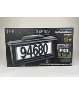 The Black Series 52 Piece Solar Powered Lighted Address Plaque w/ Lawn S... - $26.73