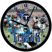Tennessee Titans, Exclusive 8in. Unique Homemade Wall Clock, Battery Inc... - $23.97
