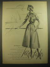 1950 Lord & Taylor Dress by Brigance Advertisement - $14.99