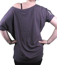 Bench UK Womens Navy Queeny Clover Playing Card Scoop Neck T-Shirt BLGA2363 NWT image 3