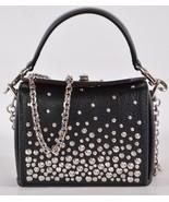 New Alexander McQueen 502179 Black Studded Leather NANO BOX Crossbody Pu... - $787.05