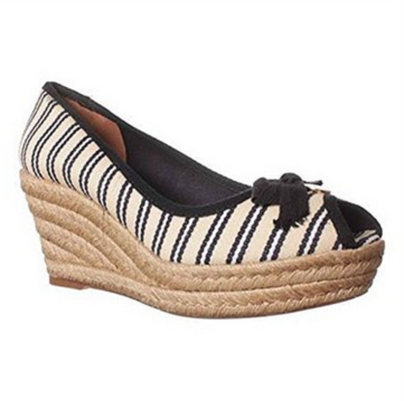 e5c7ab54fd3 Tory Burch Jackie Wedge Sandal - Ivory/navy and 50 similar items