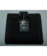 Coach Black Mini Signature Leather Small Buckle Wallet - $33.25
