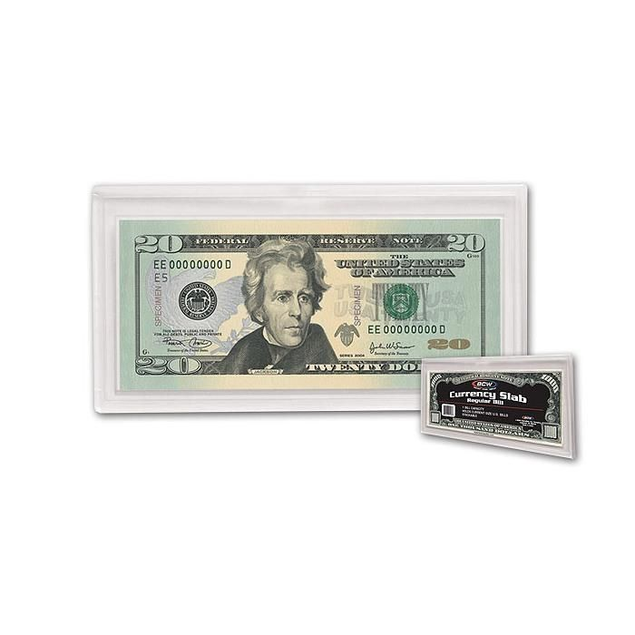 (3) BCW Deluxe Currency Slab - Regular Bill -  2 11/16 X 6 1/4