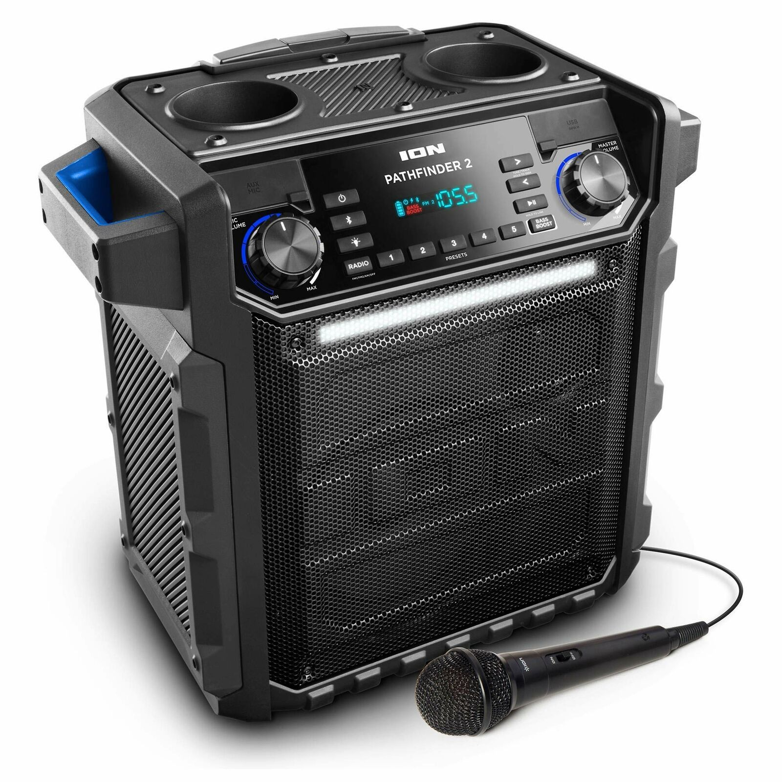 Ion Audio Pathfinder 2 High Power All-Weather Rechargeable Speaker (Renewed)