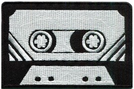 Cassette tape retro seventies music embroidered applique iron-on patch S... - $2.95