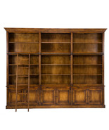 Magnificent Palace Bookcase Library Cabinet Solid Oak Wood w/Ladder,125'... - $12,870.00