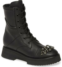 Jimmy Choo Hadley Crystal Combat Boots Size 40 MSRP: $1,395.00 - $890.99