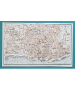 "1934 MAP 6 x 10"" (15 x 25 cm) - PORTUGAL Lisbon City Plan & Environs - $21.60"