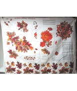 Older Cranston VIP Autumn Foliage Printed Fabric Sewing Kit Panel Excell... - $14.36