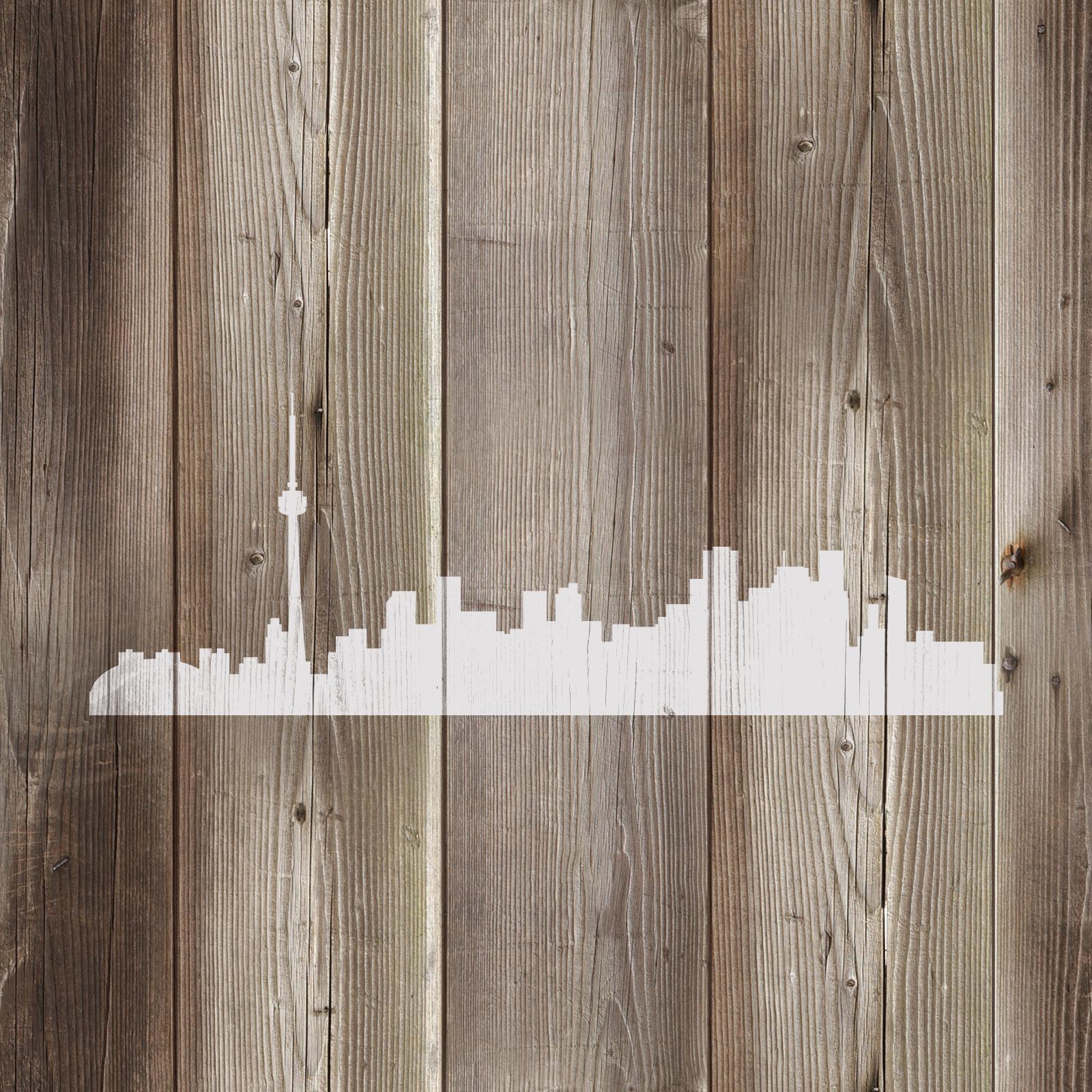 Toronto Skyline Stencil - Durable & Reusable Mylar Stencils