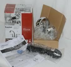 Pfister Kaylon F048KYCC Polished Chrome Finish Lavatory White Handle Faucet image 1