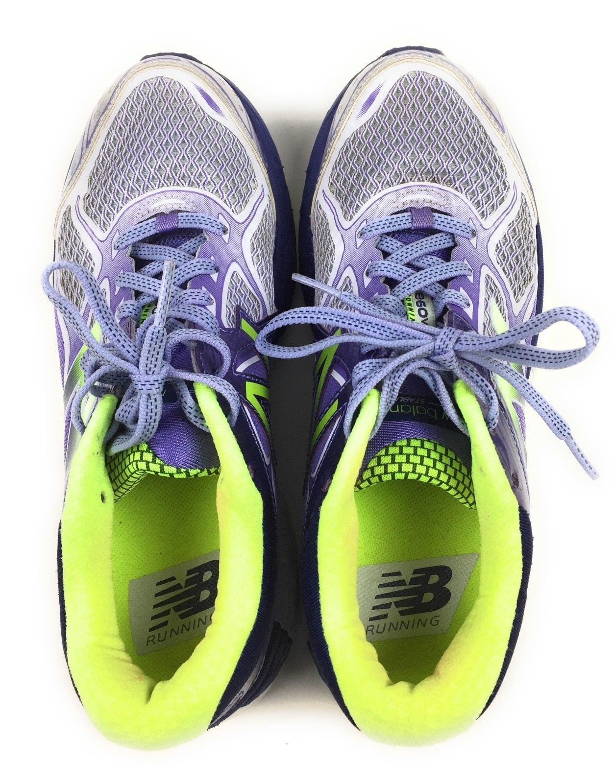 New Balance 860v6 Athletic Running Shoes W860GP8 Purple Green Women's Size 8 US image 2
