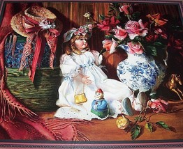 Home Interiors Victorian Floral Doll Picture Grandma's Attic by DI GIACOMO Homco - $149.00