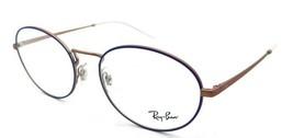 Ray-Ban Rx Eyeglasses Frames RB 6439 3053 54-18-140 Matte Blue / Copper - $137.20