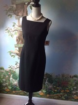 Anne Klein Women's Black Sleeveless Dress Size 2 NEW - $63.36