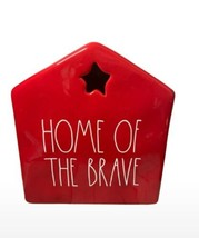 Rae Dunn Red Home of the Brave House Americana Décor/July 4th New!  - $49.50